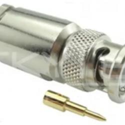 Conector Bnc 50r Macho Reto Prensa Cabo Rg/rgc213 900