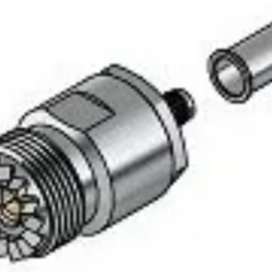 Conector Uhf Femea Reto De Crimp P/ Cabo Rg 58 209