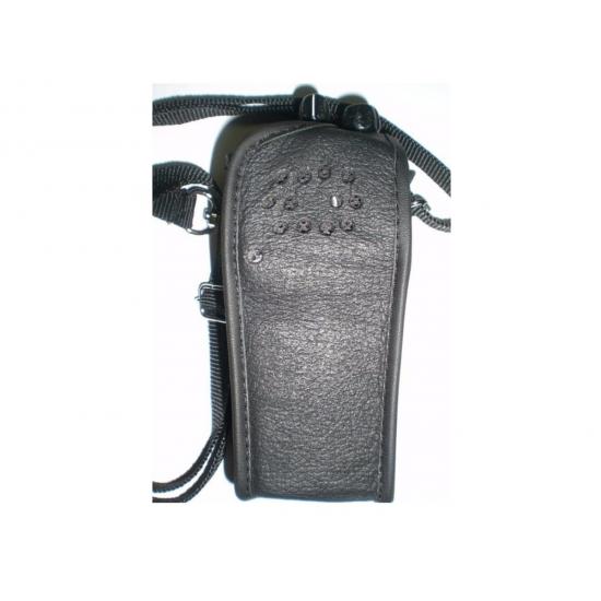 Capa Couro Legitimo Sem Visor Radio Motorola Ep-450-dep-450