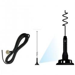 Antena Móvel Uhf 5/8o Whip 900 Mhz Cabo +cachimbo Ap39001