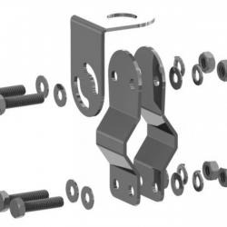Suporte Bi-articulado Aço Inoxidável Tubos Steelbrás - Ap3744