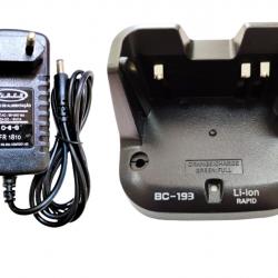 Fonte E Base Carregador Para Bateria De Lition Icom Ic-v80