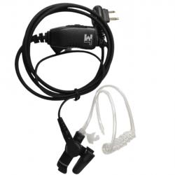 Fone Ouvido Ptt Lapela 3T-M1A Compartivel Tubo Acustico Dep450/450